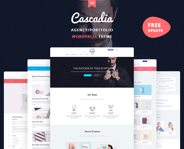 Cascadia - Agency/Portfolio WordPress Theme (Creative) Cascadia - Agency/Portfolio WordPress Theme (Creative) section 1