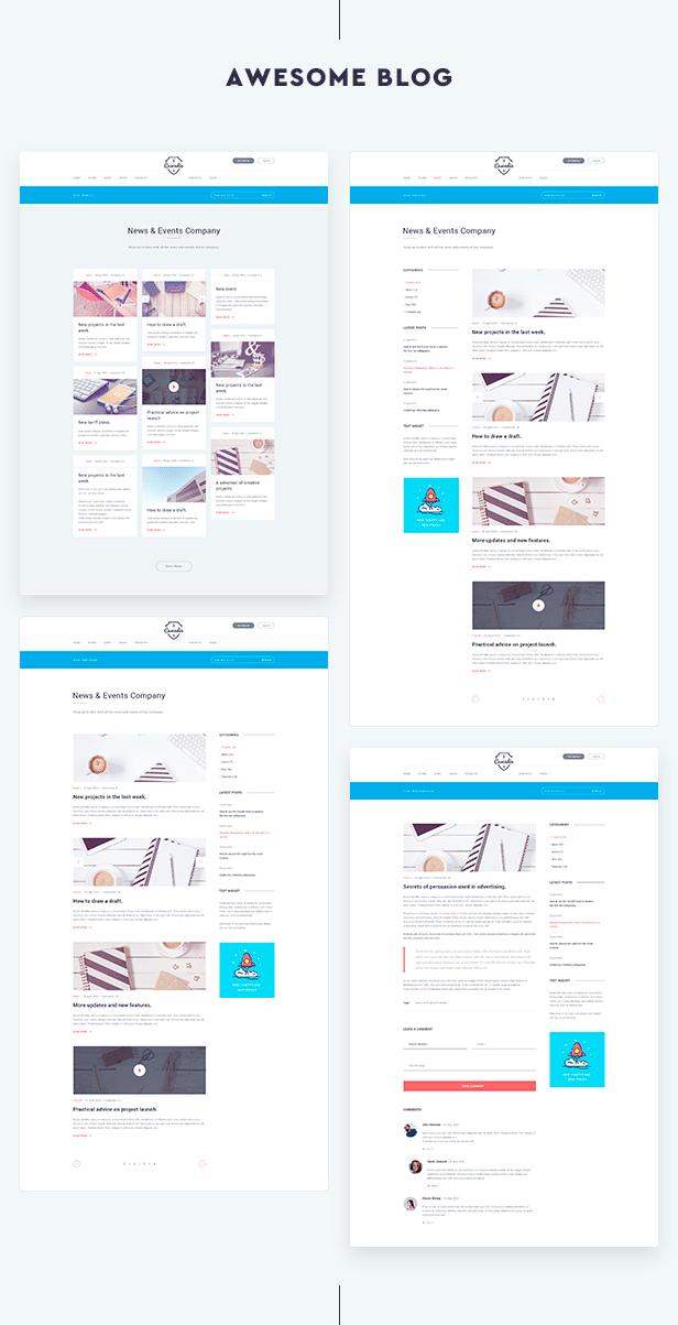 Cascadia - Agency/Portfolio WordPress Theme (Creative) Cascadia - Agency/Portfolio WordPress Theme (Creative) section 4